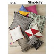 Simplicity Homeware Easy Sewing Pattern 8226 Cushions & Pillows in 8 Styles