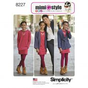 Simplicity Girls Sewing Pattern 8227 Jacket, Dress & Knit Leggings