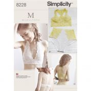 Simplicity Ladies Sewing Pattern 8228 Lingerie Soft Cup Bras & Panties Knickers