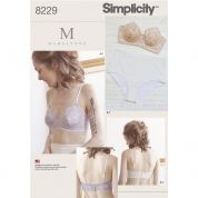 Simplicity Ladies Sewing Pattern 8229 Lingerie Underwire Bras & Panties Knickers