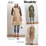 Simplicity Ladies Sewing Pattern 8230 Reversible Apron Dress & Tabard