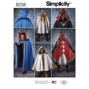 Simplicity Mens Sewing Pattern 8238 Cape Costumes