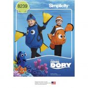 Simplicity Childrens Sewing Pattern 8239 Disney Finding Dory Costumes
