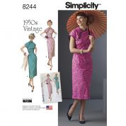 Simplicity Ladies Sewing Pattern 8244 1950's Vintage Style Drresses