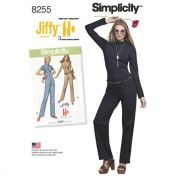Simplicity Ladies Easy Sewing Pattern 8255 Vintage Style Knit Jumpsuit