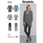 Simplicity Ladies Sewing Pattern 8261 Wrap Tunic Tops & Knit Leggings
