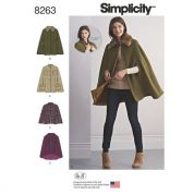 Simplicity Ladies Sewing Pattern 8263 Capes & Capelets