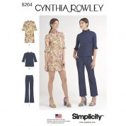 Simplicity Ladies Sewing Pattern 8264 Mini Dress, Top & Pants