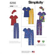 Simplicity Ladies Easy Sewing Pattern 8266 Scrubs with Ponytail Hat