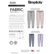 Simplicity Family Easy Sewing Pattern 8268 Slim Fit Knit Jogger Pants