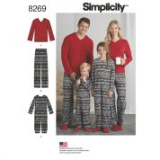 Simplicity Family Sewing Pattern 8269 Childs Jumpsuit & Adults Pants & Knit Top