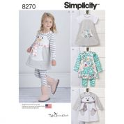 Simplicity Baby & Toddler Easy Sewing Pattern 8270 Jersey Knit Outfits