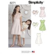 Simplicity Girls Sewing Pattern 8271 Special Occasion Dress & Jacket