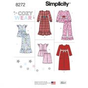 Simplicity Girls Sewing Pattern 8272 Sleepwear & Dressing Gowns
