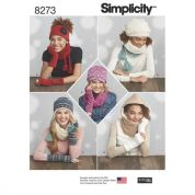 Simplicity Ladies Easy Sewing Pattern 8273 Jersey Knit Hats & Accessories