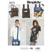 Simplicity Ladies Easy Sewing Pattern 8274 Character Inspired Bags