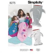 Simplicity Ladies, Girls & Dolls Easy Sewing Pattern 8275 Novelty Tail Blankets
