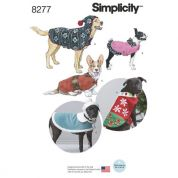 Simplicity Pets Easy Sewing Pattern 8277 Fleece Dog Coats & Hats