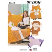 Simplicity Home Easy Sewing Pattern 8278 Animal Rag Quilts