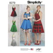 Simplicity Ladies Easy Sewing Pattern 8279 Character Inspired Aprons