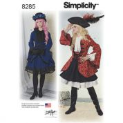 Simplicity Ladies Sewing Pattern 8285 Jacket & Skirt Costumes