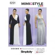 Simplicity Ladies Sewing Pattern 8291 Jersey Knit Dresses