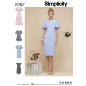 Simplicity Ladies Sewing Pattern 8292 Dresses in 4 Styles