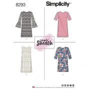 Simplicity Ladies Easy Sewing Pattern 8293 Simple Sheath Dresses