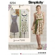Simplicity Ladies Sewing Pattern 8294 Dresses & Sash