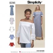 Simplicity Ladies Easy Sewing Pattern 8296 Dresses & Tunic Tops