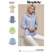 Simplicity Ladies Sewing Pattern 8297 Shirt Style Tops