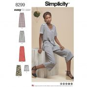 Simplicity Ladies Easy Sewing Pattern 8299 Skirts & Trousers