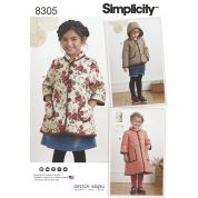 Simplicity Girls Sewing Pattern 8305 Coats & Jackets