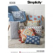 Simplicity Home Easy Sewing Pattern 8308 Cushions & Pillows