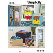Simplicity Home Easy Sewing Pattern 8309 Organizers