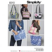 Simplicity Accessories Easy Sewing Pattern 8310 Quilted Bags
