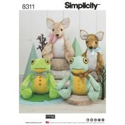 Simplicity Craft Easy Sewing Pattern 8311 Stuffed Deer & Frog Toys