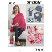 Simplicity Ladies & Baby Easy Sewing Pattern 8312 Toys & Nursing Shawl