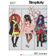 Simplicity Ladies Sewing Pattern 8317 Oriental Costumes