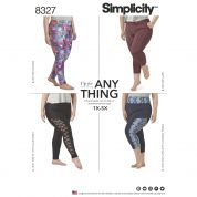 Simplicity Ladies Easy Plus Size Sewing Pattern 8327 Jersey Knit Leggings