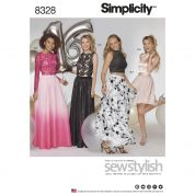 Simplicity Ladies Sewing Pattern 8328 Special Occasions Tops & Skirts