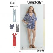 Simplicity Ladies Easy Sewing Pattern 8333 Jersey Knit Dresses & Jumpsuits
