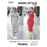 Simplicity Ladies Sewing Pattern 8334 Jersey Knit Dresses