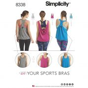 Simplicity Ladies Easy Sewing Pattern 8338 Jersey Knit Sports Tops