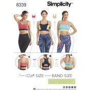 Simplicity Ladies Sewing Pattern 8339 Jersey Knit Sports Bras