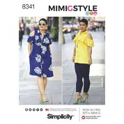 Simplicity Ladies Sewing Pattern 8341 Dress, Top & Knit Leggings