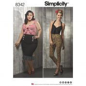 Simplicity Ladies Sewing Pattern 8342 Knit Tops, Cropped Trousers & Skirts