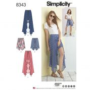 Simplicity Ladies Sewing Pattern 8343 Wrap Front Skirt & Shorts