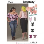 Simplicity Ladies Plus Size Sewing Pattern 8344 Jersey Knit Bodysuits