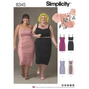 Simplicity Ladies Plus Size Sewing Pattern 8345 Dress, Top & Skirt